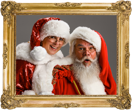 Santa and Mrs. Santa in Frame